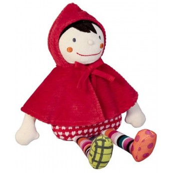 Lalka szmaciana Czerwony Kapturek dla niemowląt +0mc, Ebulobo