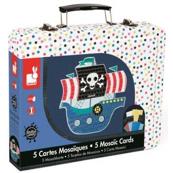 Mozaika dla dzieci Piraci wyklejanka 4+, Janod