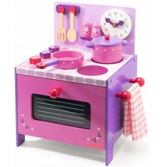 Kuchnia drewniana dla dzieci z akcesoriami Violette, Djeco