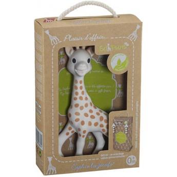 Gryzak Żyrafa Sophie So Pure w opakowaniu na prezent