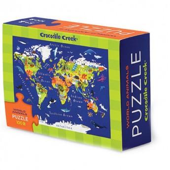 Puzzle 100 elementów Zwierzęta Świata, Crocodile Creek