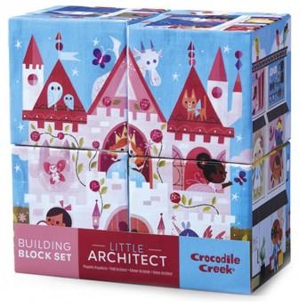 Klocki układanki 4 sztuki Mały Architekt dla dziewczyn, Crocodile Creek