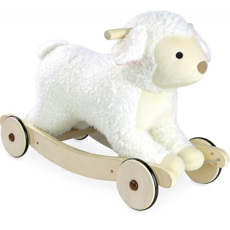 Vilac bujak na biegunach pluszowy Owieczka dla dwulatka