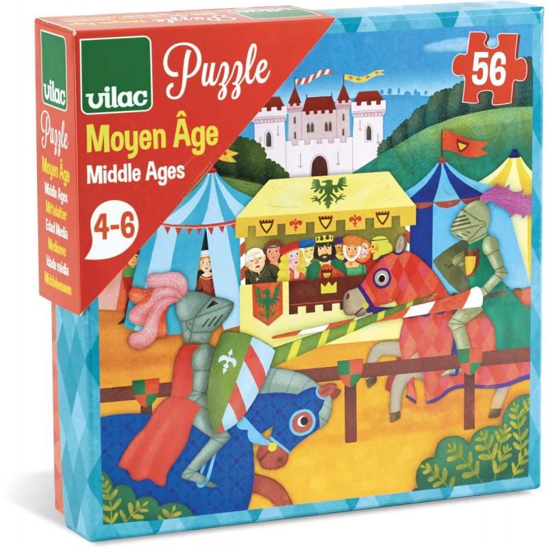 Puzzle dla dzieci Średniowiecze 56 elementów, Vilac