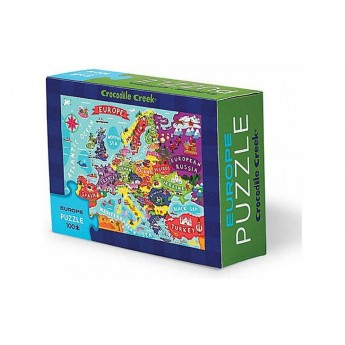 Puzzle 100 elementów Europa podróżne, Crocodile Creek