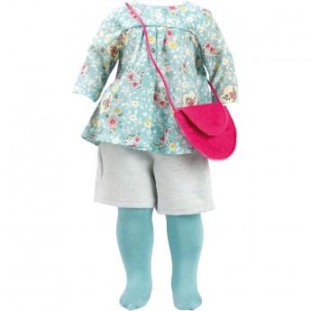 Ubranka dla lalek Marie-Francoise 40cm wzór Marceau niebieski, Petitcollin
