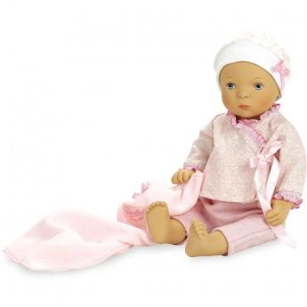 Lalka bobas dla dzieci 35cm Lena z łóżeczkiem by S. Natterer, Petitcollin