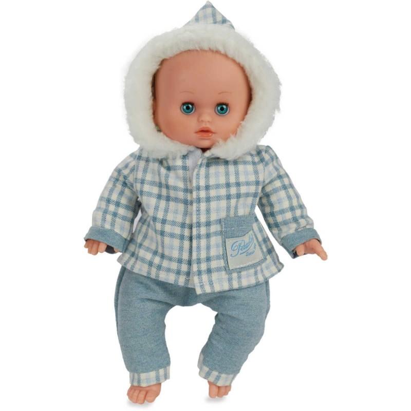 Lalka bobas Petit Calin Śnieżynka 28cm, Petitcollin