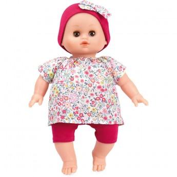 Lalka bobas Petit Calin Ecolo doll 28cm Kwiatuszki, Petitcollin