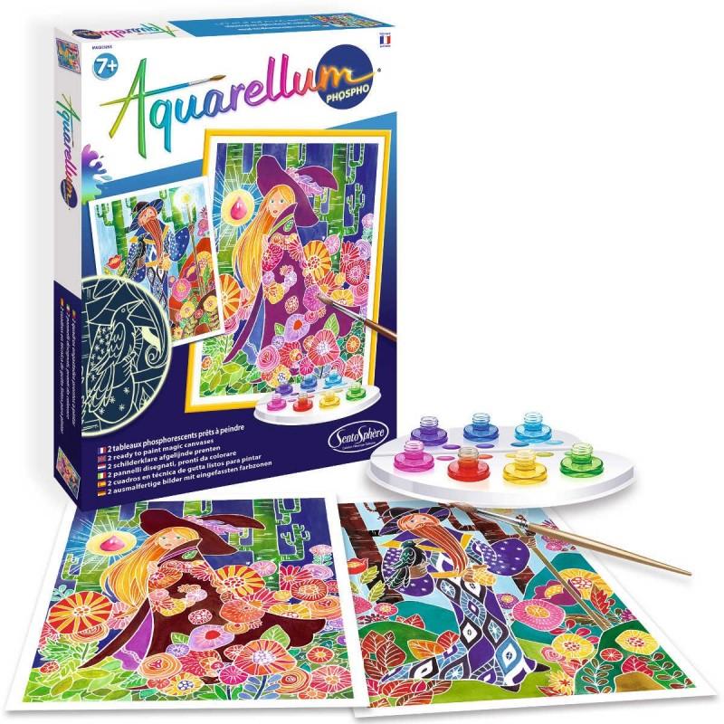 Aquarellum Magicy 2 obrazy do malowania i farby, SentoSphere