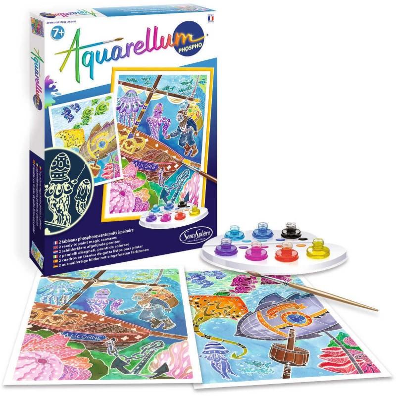 Aquarellum Głębiny 2 obrazy do malowania i farby, SentoSphere