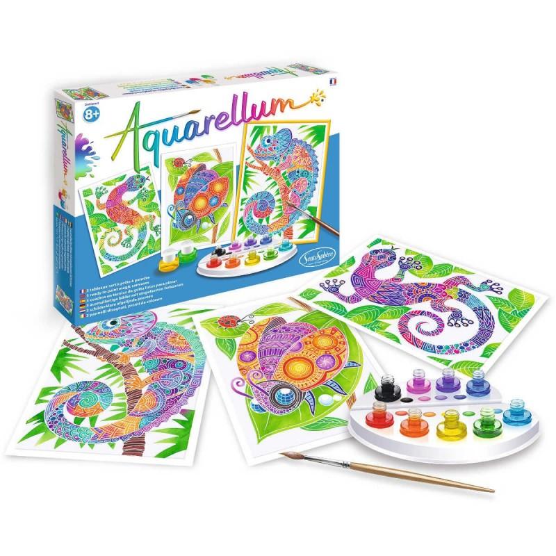 Aquarellum Zwierzęta Zentangle 3 obrazy do malowania, SentoSphere