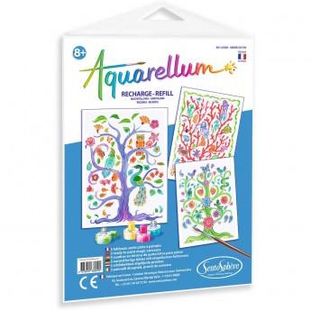Aquarellum Drzewa Życia 3 plansze zapasowe do malowania, SentoSphere