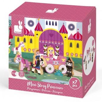 Janod Story Box Księżniczka zabawka drewniana 7 elementów