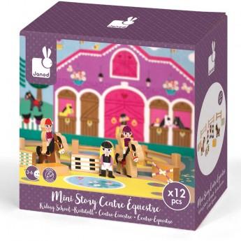Janod Story Box Konie zabawka drewniana 12 elementów
