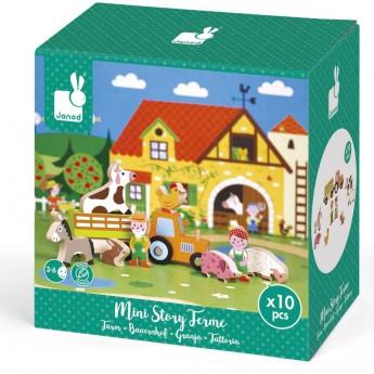Janod Story Box Farma zabawka drewniana 10 elementów