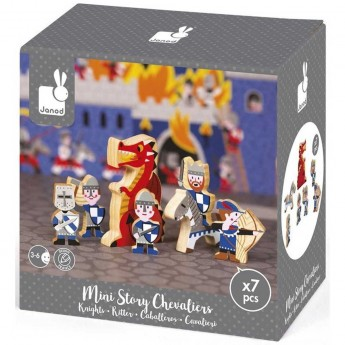 Janod Story Box Rycerze zabawka drewniana 7 el