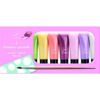 Djeco gwasze pastelowe dla dziewczyn 8 kolorów