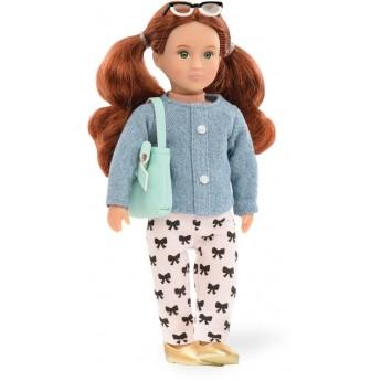 Lalka Autum rudowłosa w spodnie w kokardki