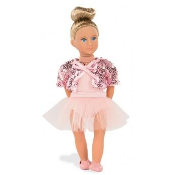 Lalka dla dziewczynki baletnica Macie z długimi włosami