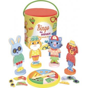 Lotto Zwierząt gra drewniana dla 3 latka, Vilac