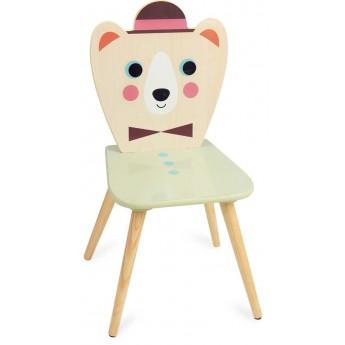 Krzesło drewniane dla dzieci Miś z Kapeluszem by I.P. Arrhenius, Vilac