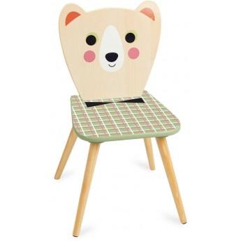 Krzesło drewniane dla dzieci Miś z Muszką by I.P. Arrhenius, Vilac
