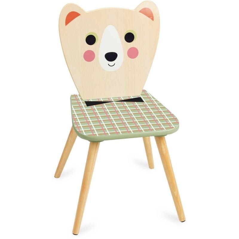 Krzesło drewniane dla dzieci Miś z Muszką -I.P. Arrhenius, Vilac