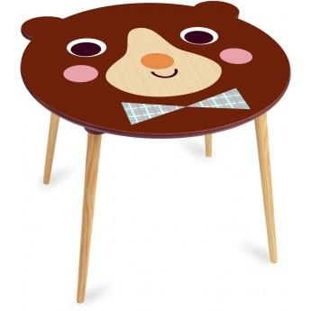 Stolik drewniany do rysowania dla dzieci Miś Brązowy by I.P. Arrhenius, Vilac