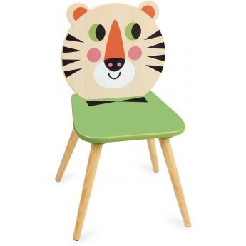 Krzesło drewniane dla dzieci Tygrys by I.P. Arrhenius, Vilac