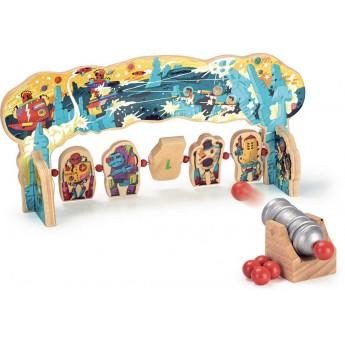 Roboty gra zręcznościowa drewniana dla 5 latka, Vilac