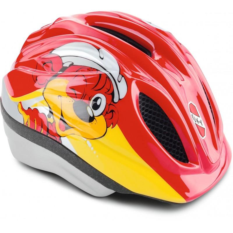 Kask rowerowy M/L czerwony (52-58cm), Puky