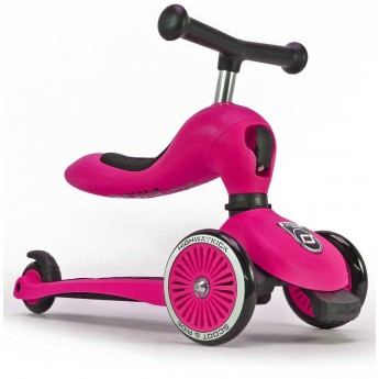 Highwaykick różowa hulajnoga z siedziskiem na roczek, Scoot & Ride
