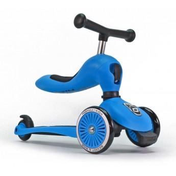 Highwaykick niebieska hulajnoga z siedziskiem na roczek, Scoot & Ride