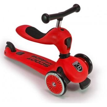 Highwaykick czerwona hulajnoga z siedziskiem na roczek, Scoot & Ride