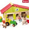 Klocki drewniane 4+ Farma z traktorem (140szt), Jeujura