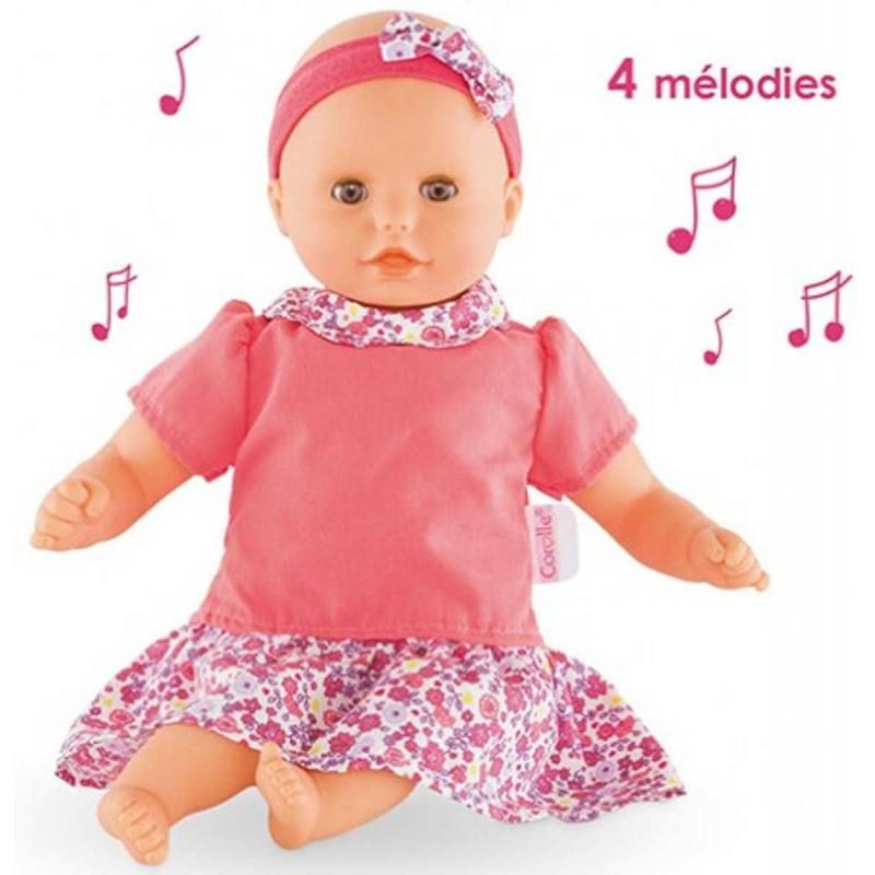 Lalka bobas interaktywna dla dzieci 18m+ gra 4 melodie, Corolle