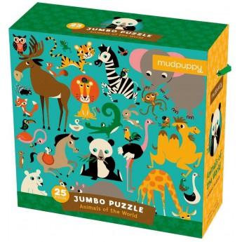 Puzzle Jumbo 25 elementów Zwierzęta Świata, Mudpuppy
