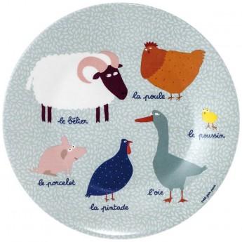 Talerzyk dla dziecka 20cm Farma, Petit Jour