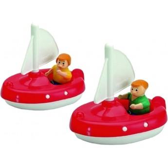 AquaPlay 2 żaglówki i 2 figurki do zabawy w kąpieli