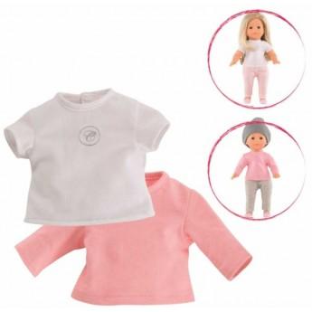 Ubranka dla lalek Vanilla 36cm bluzeczki białe różowe, Corolle