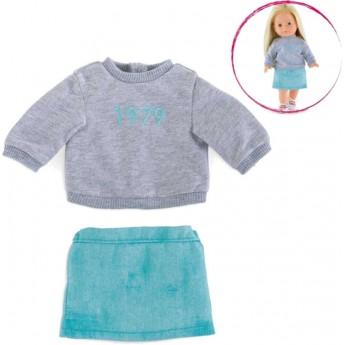 Ubranka dla lalek Vanilla 36cm spódniczka i swetr, Corolle