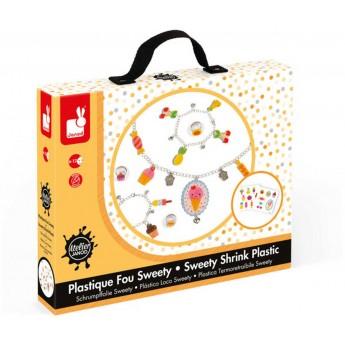 Zestaw do robienia biżuterii z kurczliwego plastiku Słodkości, Janod