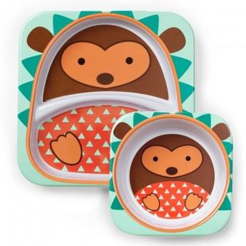 Skip Hop zestaw obiadowy dla dzieci z melaminy Zoo Jeż