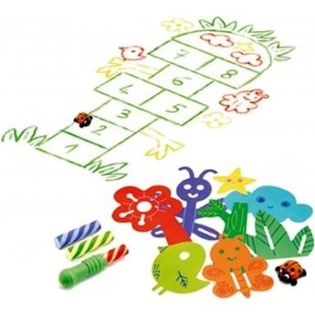 Zestaw do rysowania gier podwórkowych, Djeco