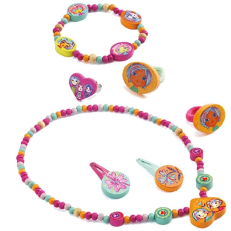 Biżuteria drewniana dla dzieci The Pretty Jewellery, Djeco