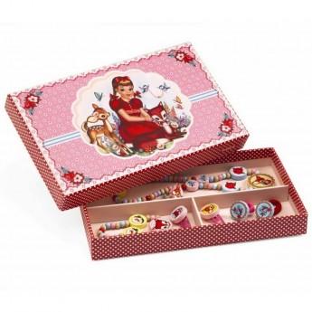 Biżuteria drewniana dla dziewczynek Jelonki, Djeco