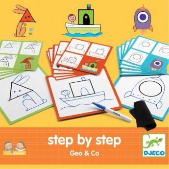 Krok po Kroku Geo&Co -nauka rysowania, Djeco