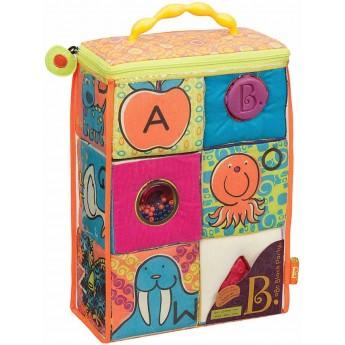 Klocki miękkie sensoryczne ABC Block Party, B.Toys