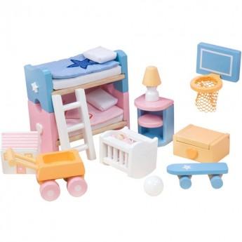 Pokój dziecięcy Sugar Plum do domków dla lalek, Le Toy Van